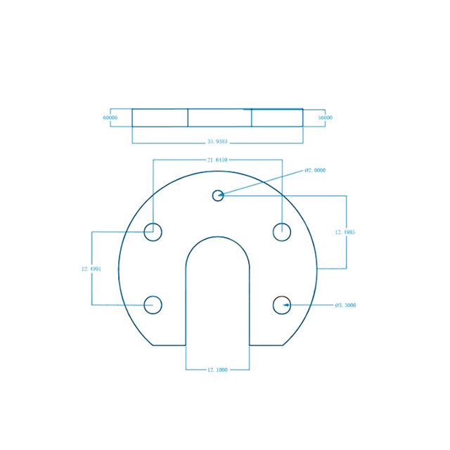 Blok podkowy V5/V6 do Reprap Kossel E3D Hotend blok aluminiowy V5 V6 do montażu na rowku 3D