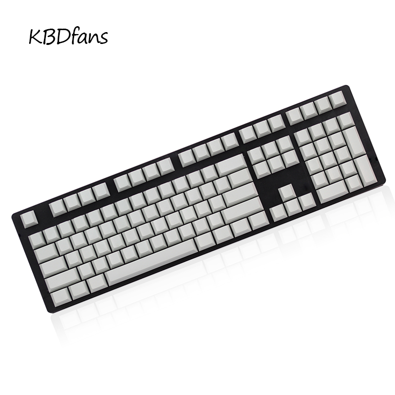 kbdfans Blank PBT Keycap Gray Cherry Profile For Cherry MX Switches Mechanical Keyboard G803000 3494 G80-3800 ANSI ISOlayout jd коллекция 20 g80 3800 белый красная ось
