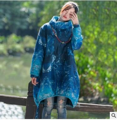 Haute Femmes Nouveaux Big En Jour Yards La Coton Bleu Hiver Lâche 2018 Marché Sur Qualité Originale Conception Produits Le De 1r5fnCq1wU
