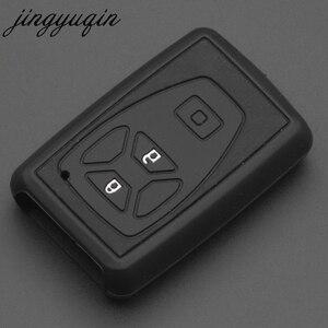 Image 2 - Jingyuqin karbon silikon araba anahtarı kapağı durumda Fit Toyota Estima Alphard Vellfire 2/3/4/5 düğmeler uzaktan akıllı anahtarsız kabuk