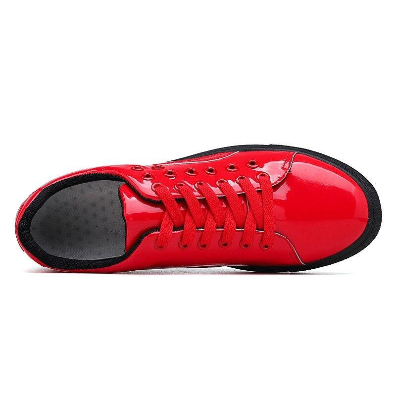Hommes brillant miroir chaussures décontractées 2019 nouvelle version coréenne de la sauvage chaussures tendance cheveux styliste chaussures pour hommes - 6