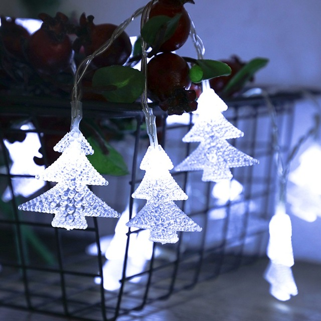 20 leds battery powered christmas tree shaped string lights for xmas home garden patio indoor outdoor - Battery Powered Christmas Decorations