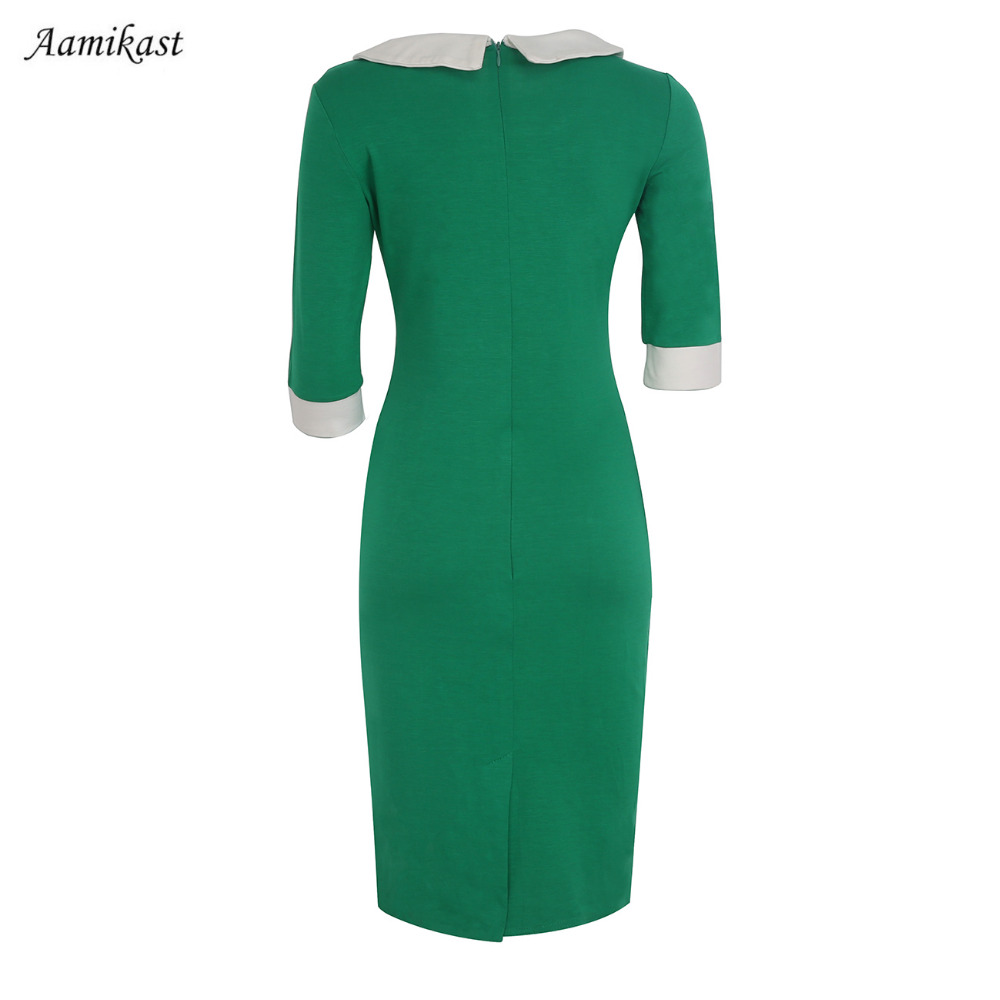 New Fashion ElegantThree Seasons Peter Pan Collar Knee length Formal ...