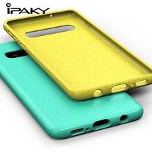 IPAKY Original Silicon Case For Samsung Galaxy S10 Plus S10E Fundas Colorful Matte TPU Full Cover Coque
