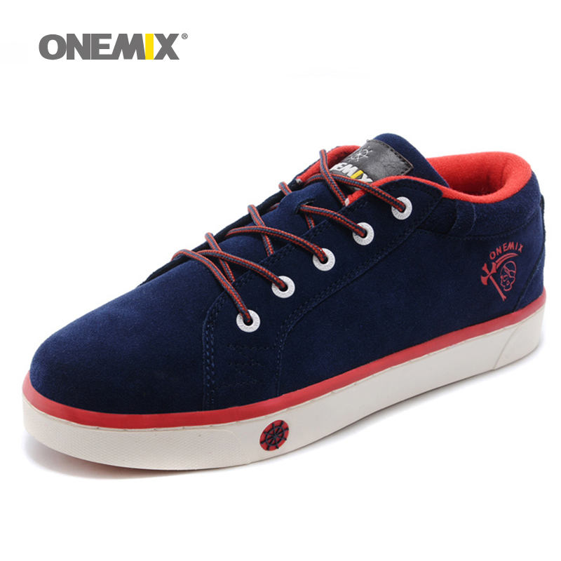 ФОТО Genuine Leather  Lace Up Sneakers for Men with Low Upper Flat Shoes High Quality Men's Sport Shoes Men's Skateboarding Shoes