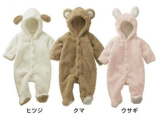 Frete grátis 4 conjuntos clássicos de inverno romper do bebê de manga longa romper do bebê desgaste infantil 3 cores do urso de porco sheep clothing