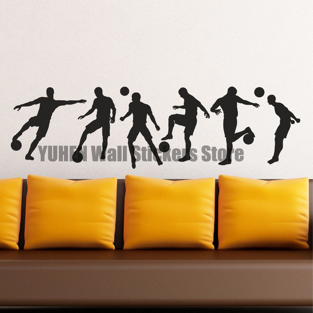 Soccer Wall Stickers Football Players Skills Training Wall Decals Training  Hall Bedroom Vinyl Background Wall Decorative