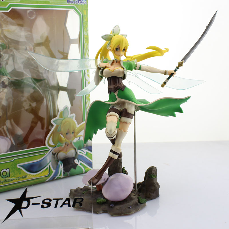 Free Shipping 10 Sword Art Online S.A.O Anime Kirigaya Suguha Fairy Dance Leafa Boxed PVC Action Figure Model Doll Toys Gift a toy a dream sword art online kashuu kiyomitsu action figures 200mm pvc figure sao collection model toys doll anime art online