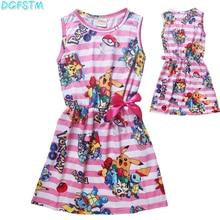 Go Pokemon bikachu Детский мультфильм платье платье-костюм для косплея для девочек платье принцессы Анны детская одежда рождественское платье