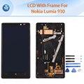 Оригинальный ЖК-ДИСПЛЕЙ для Microsoft Nokia Lumia 930 ЖК-дисплей с сенсорным экраном дигитайзер + рамка ассамблея черный 5.5 дюймов экран + инструменты