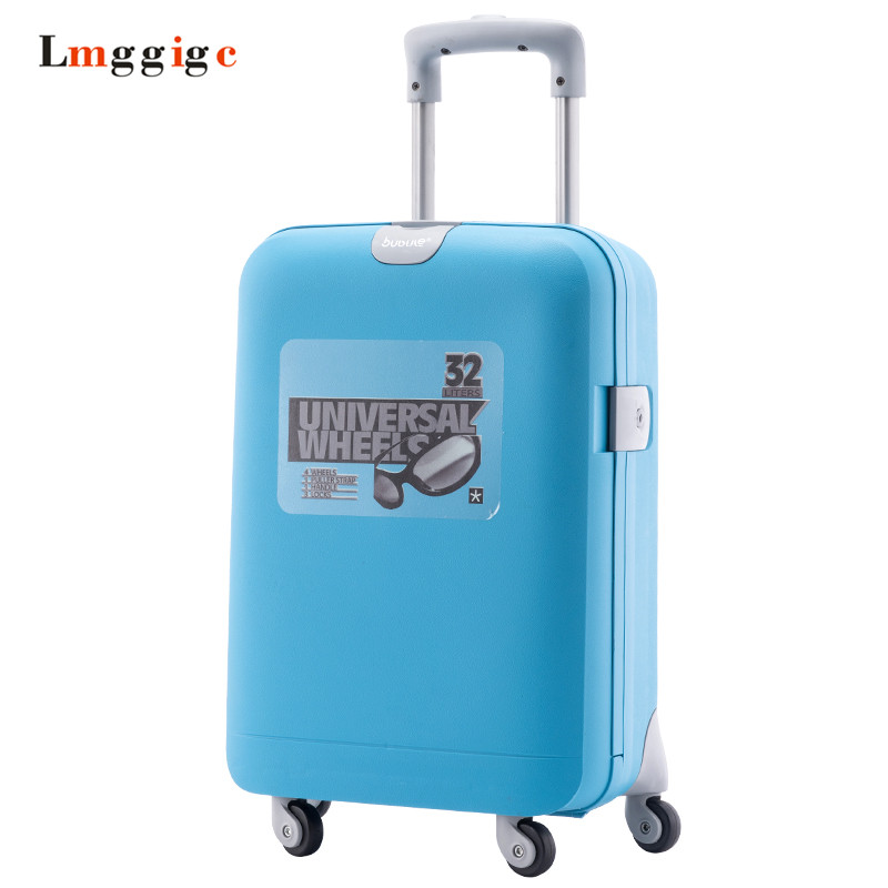 Rolling Luggage, Cabin Bag,Women Travel Suitcase,PP Material Password Box,Universal wheels Trolley hard case ,19 inch Carry-On universal uheels trolley travel suitcase double shoulder backpack bag with rolling multilayer school bag commercial luggage