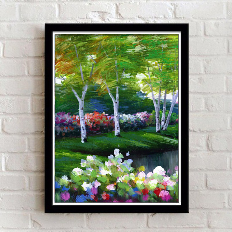 Framed Wall Decoration Paintings Modern Landscape Living Room Art Painting  Picture On Canvas Home Sunflower Flowers