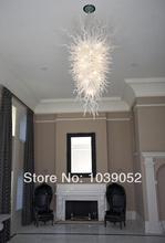 Free Shipping White Hotel Murano Lights Big Crystal Chandeliers In China  цена в Москве и Питере