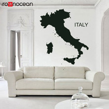 Italia Europe Venice Rom Milan Italy Map Country Wall Decals Vinyl Home Decor Living Room Sticker Removable Mural Wallpaper 3295 milan pocket map