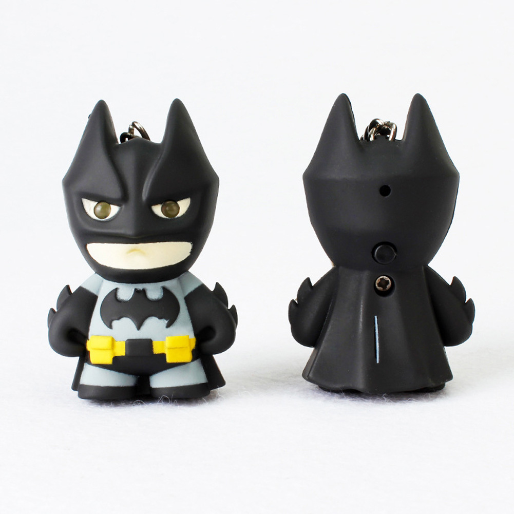 Key Chains Led Keychain With Sound High Resilience New Arrive Flashlight Keychain Figure Keyrings,cool Batman Keychain Batman Keychain