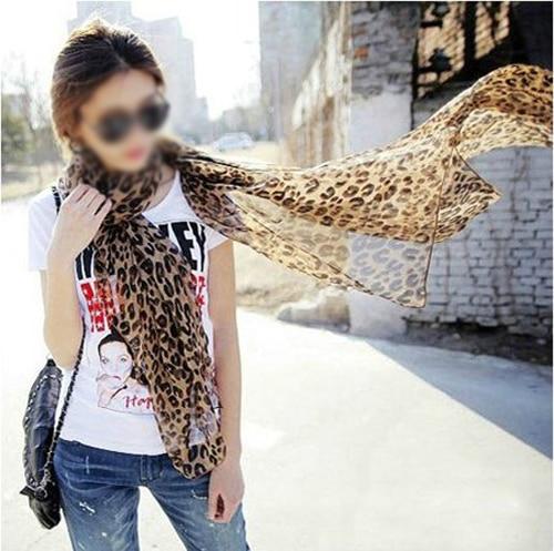 New Girl Fashion Leopard Pattern Shawl Scarf Wrap for Women Gifts gaze de paris