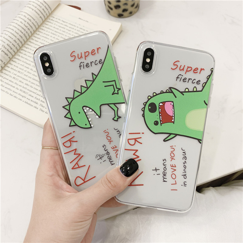 <font><b>Cartoon</b></font> Dinosaur <font><b>Case</b></font> For Samsung Galaxy S9 S8 Plus S7 Edge Soft Phone <font><b>Case</b></font> For A5 A3 A7 2018 <font><b>a50</b></font> 30 J7 j5 S10 9 Cover Cute Capa image
