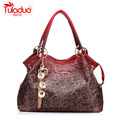 TULADUO Hollow Out Large PU Leather Tote Bag 2017 Luxury Women Shoulder bags, Fashion Women Bag Brand Handbag Bolsa Feminina