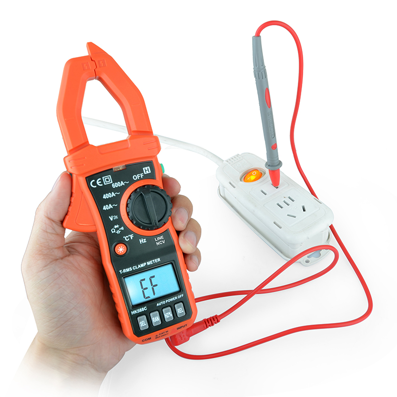 New Hot Sale Non-Contact Digital Clamp Multimeter HK588E AC/DC  Auto Range Professional Meter Tester Tool Free shipping best price mgehr1212 2 slot cutter external grooving tool holder turning tool no insert hot sale brand new