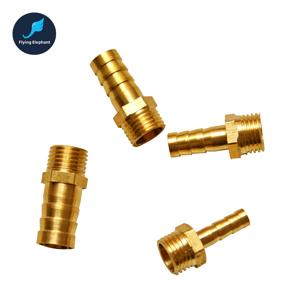 1 Piece 6mm 8mm 10mm 12mm G1/4 Brass Water Splitter For Computer Water Cooling Fittings , Pagoda Joint Water Tube Connector