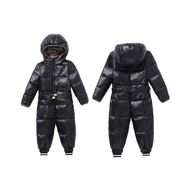 12M~4T Baby Boy Clothes Snowsuit Outerwear Baby Rompers Duck Down Coat For Kids Candy Colors Hooded Snow Wear Clothing V30