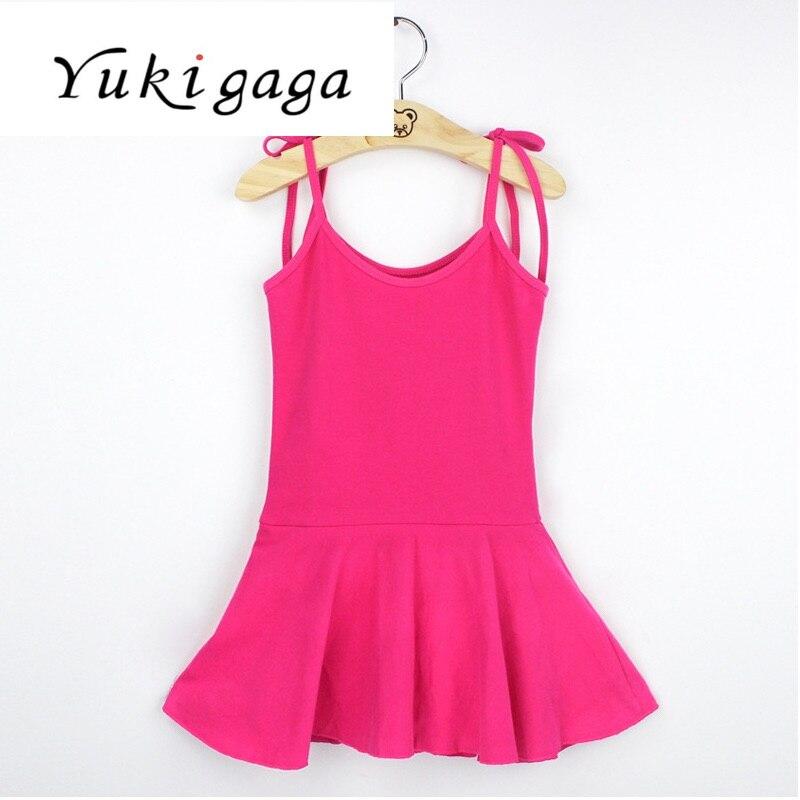 Yukigaga Children Kids Pink Cotton Short/Long Sleeve Leotard Clothes Girls Ballet Dance Gymnastics Dancewear c17c