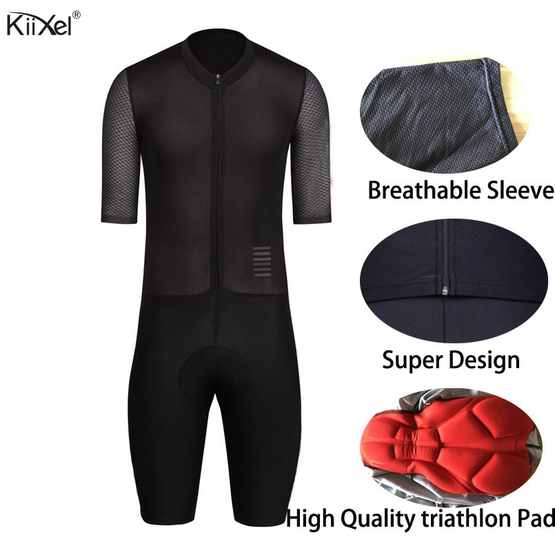 KiiXel Triathlon AERO Skinsuit Man's Jumpsuit Speed Trisuit Ropa Ciclismo Maillot Pro One Piece Triathlon Wear Cycling Jerseys-in Cycling Jerseys from Sports & Entertainment    1