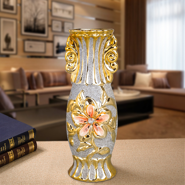 Gold Plated Ceramic Vase 1