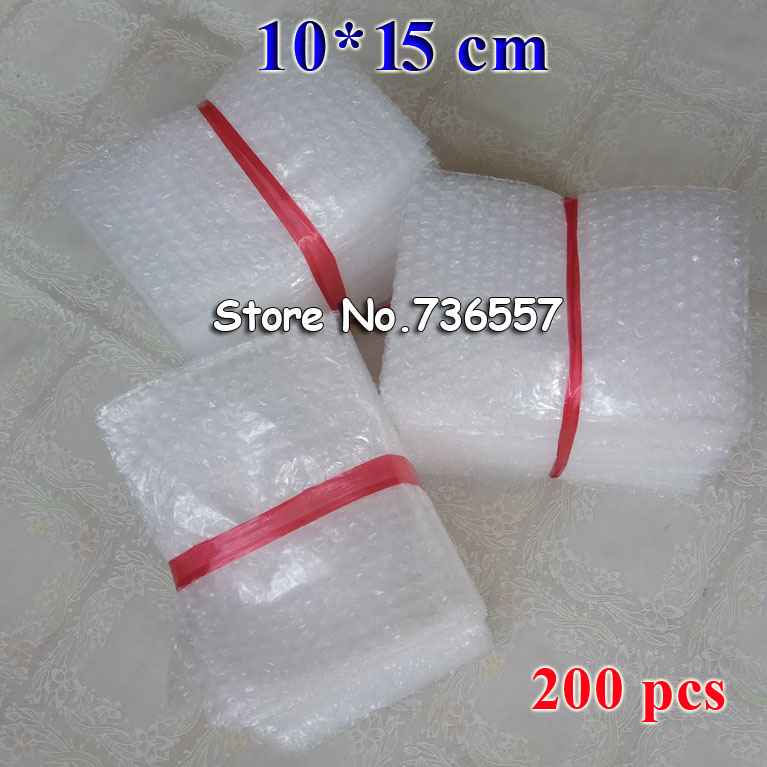 100*150mm Plastic Wrap Envelope White Bubble Packing Bags PE Clear Bubble Bag Shockproof Bag Double Film Bubble Bag 200PCS
