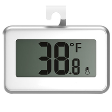 On sale Magnet refrigerator thermometer hook digital thermometer stand at the table or hanging built-in rechargeable lithium battery
