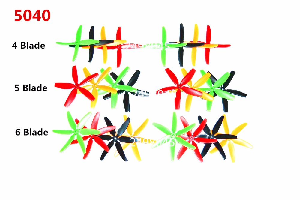 6/10 pairs (<font><b>4</b></font> color black/red/green/yellow) <font><b>5040</b></font>/5045 <font><b>4</b></font>/5/6 Leaf <font><b>Blade</b></font> Propeller CW/CCW For QAV220/ 250 FPV Racing Quadcopter image