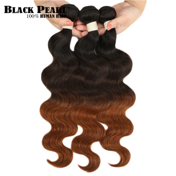 1/3/4 Pcs Ombre Brazilian Hair Body Wave Bundles T1B/4/30 Ombre Human Hair Weave Bundles Brown Non Remy Hair Extensions