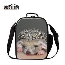 Dispalang Portable Food Picnic Packet Lunch Box Insulated Print Hedgehog Word Thermal Girls Cooler Storage Cases Bags Container(China)