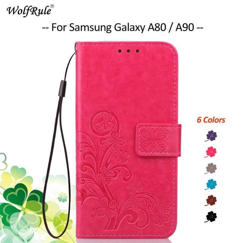 Voor Samsung Galaxy A80 Case Cover Flip PU Portemonnee Tas Cover Telefoon Tas Case Voor Samsung Galaxy A80 Voor Samsung A90 6.7 ''