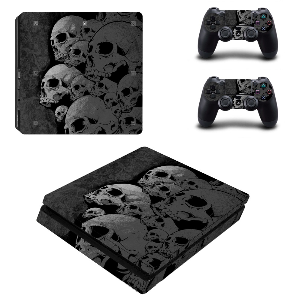 cheapest Joker Vinyl For PS4 Slim Sticker For Sony Playstation 4 Slim Console 2 controller Skin Sticker For PS4 S Skin
