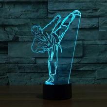LED Night Light Sports Taekwondo Figure USB Touch Sensor Childrens Kids Baby Gift Dropship Room Decorative Lamp Novelty Lighting