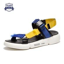 купить mens sandals genuine leather summer mens casual slippers breathable fashion anti-skid beach shoes Sneakers Men Flip Flops дешево