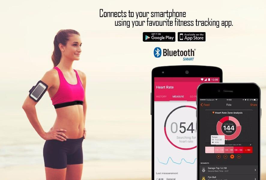 heart rate monitor bluetooth android wahoo fitness strava runtastic 60beat BLUE sports tracker heart rate monitor chest strap