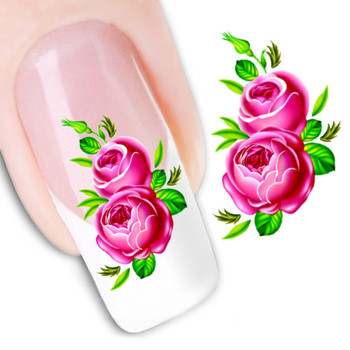 wholesale latest excellent nail art wrap paste water transfer 3D Flowers Nail Art sticker patch decal 1000pcs/lot free shipping