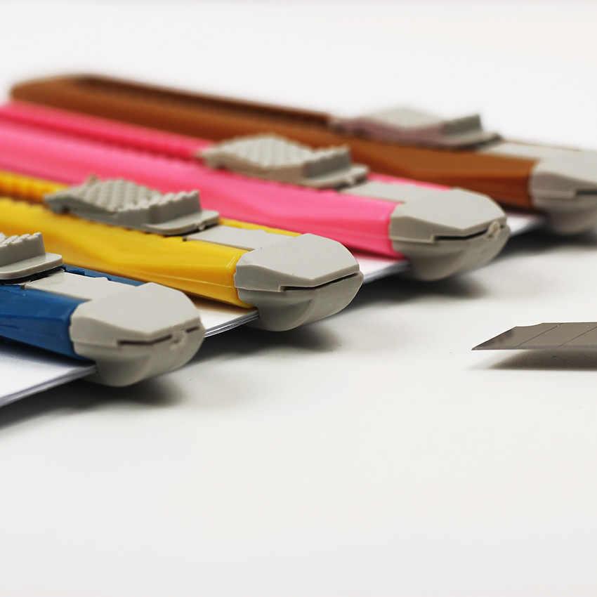1PC ファッションオフィス文具金属とプラスチック小型ユーティリティナイフ色ランダムに配信