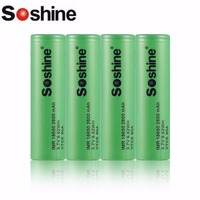 Soshine 4PCS IMR 18650 60A 2600mAh 3.7V 9.62WH VTC5 Rechargeable Batteries Low Self discharge No Memory Effect Green