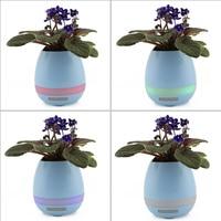 Creative Smart Finger Touch Bluetooth Speakers Music Flower Pot Planter Office Desk Decor Loudspeaker With Colorful