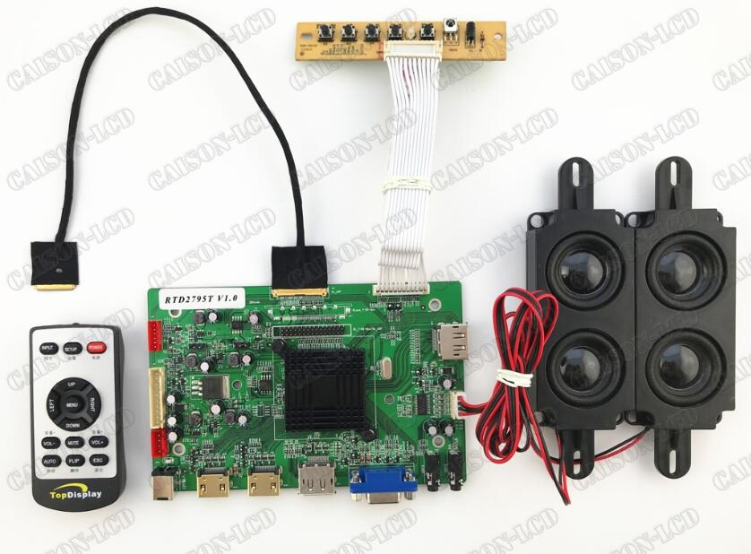 2HDMI+VGA+DP+Audio 4K LCD controller board support LQ156D1JW02/04/031 4K  lcd panel