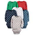 Baby Boys and Girls 6pcs Bodysuit set Bebes Clothing soft Cotton Bodysuit Jumpsuit Long Sleeve 4 pcs Pack Baby soft set