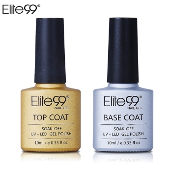 Elite99 UV Gel Top Coat Grundierung Gel 10 ML Für Nagelgelpoliermittel Basis Transparent Klar Maniküre Primer Nagellack Set