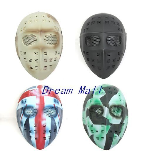 Tactical Party Mask Airsoft Full Face Mask4 Colors Choice