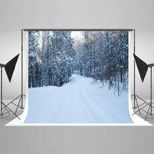 Kate Branco da Neve do Natal Fotografia Backdrops 10x10ft Floresta Fundo Photo Studio Fundo Fotográfico Forzen