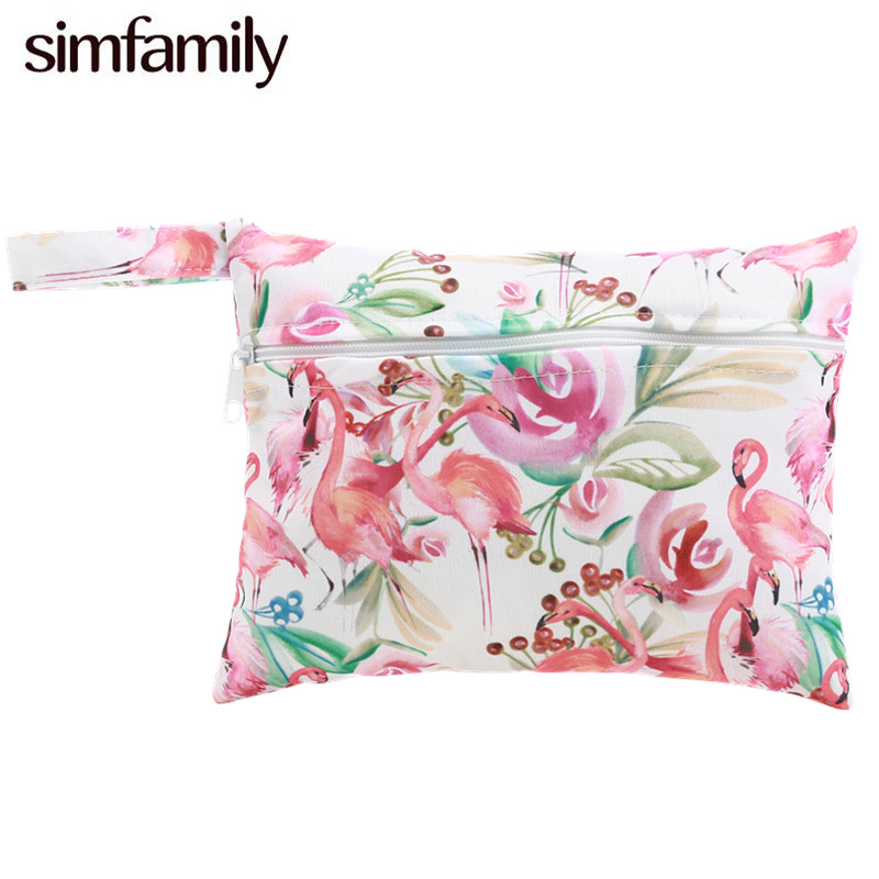 [Simfamily]1pc Reusable Water Resistant Mini Wet Bag Pouch For Menstrual Pads Nursing Pads Stroller,Makeup,14*18cm,Wholesale