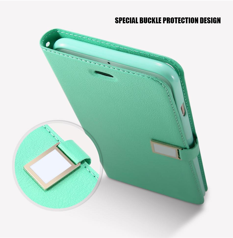 Kisscase candy kolor skóry case dla iphone 7 7 plus odwróć karty portfel slot case pokrywa dla iphone 6 6s plus 5S 5c 4S z logo 7