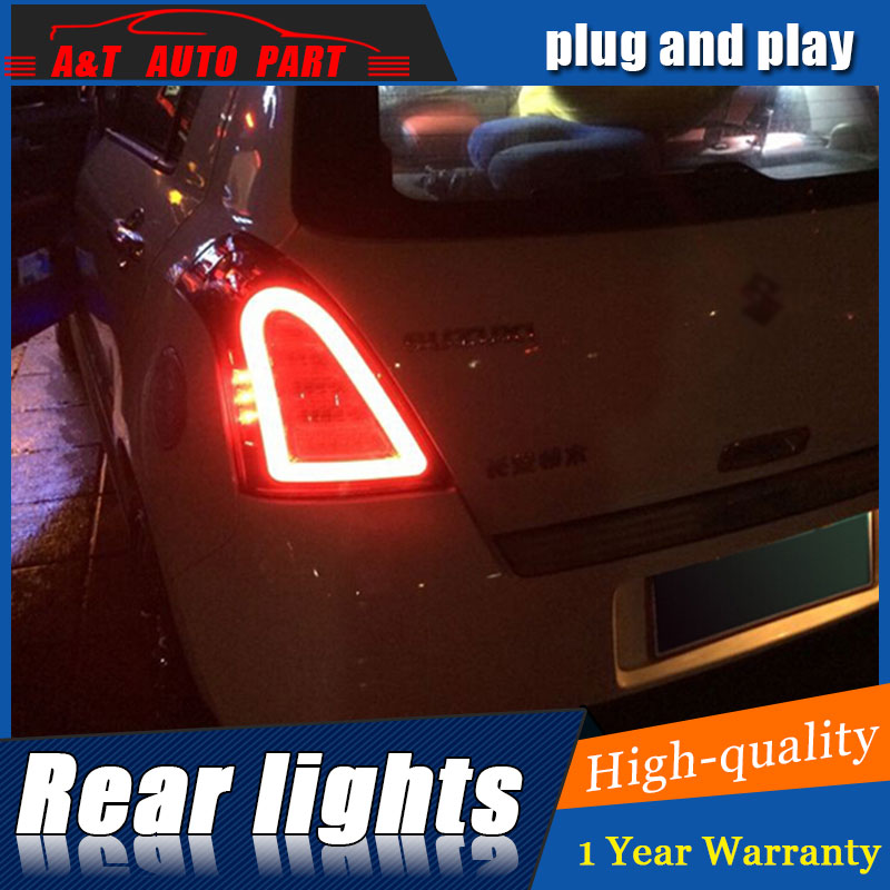 Car Styling LED Tail Lamp for Suzuki Swift Taillights 2005-2014 Swift Rear Light DRL+Turn Signal+Brake+Reverse auto Accessories motorcycler accessories integrated led tail light turn signal blinker for suzuki boulevard m109r le vzr1800z 2007 2008